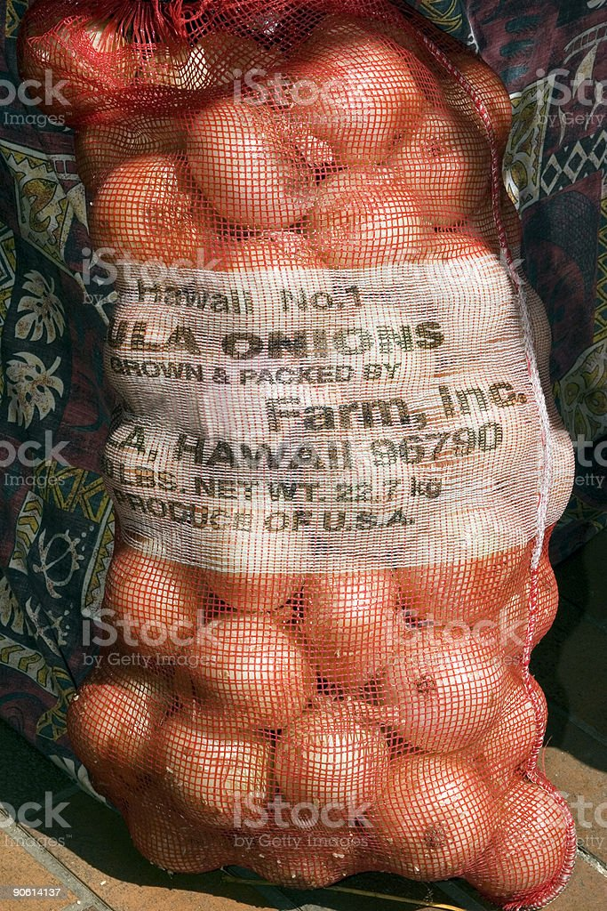 Bag of Maui Onions stock photo