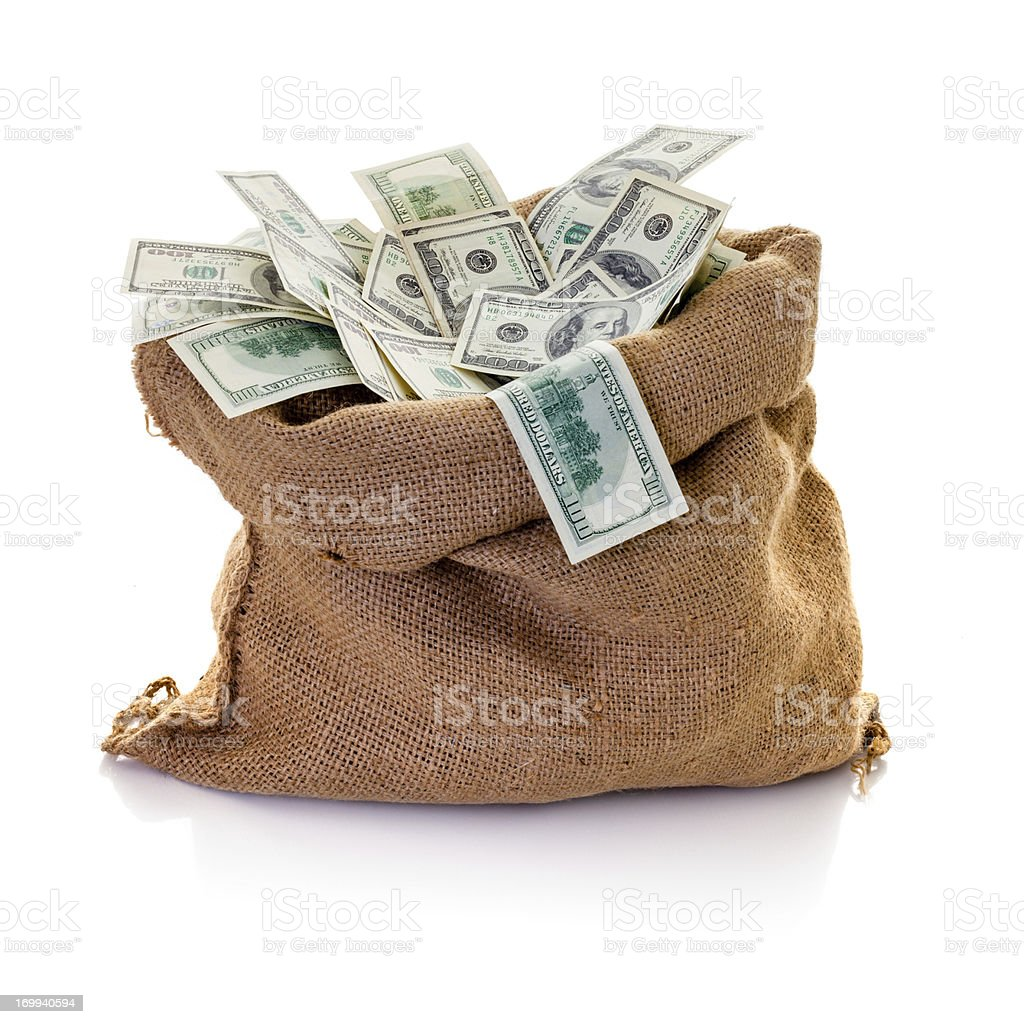 Bag of money royalty-free stock photo