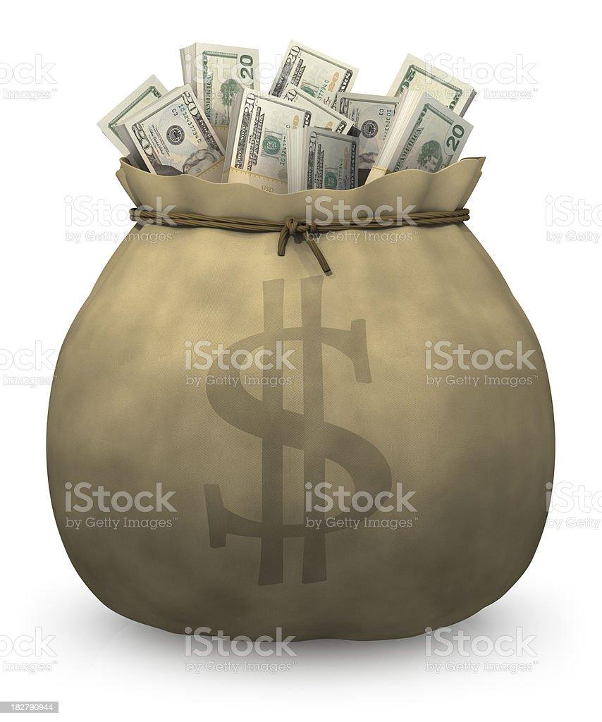 Bag of money royalty-free stock photo