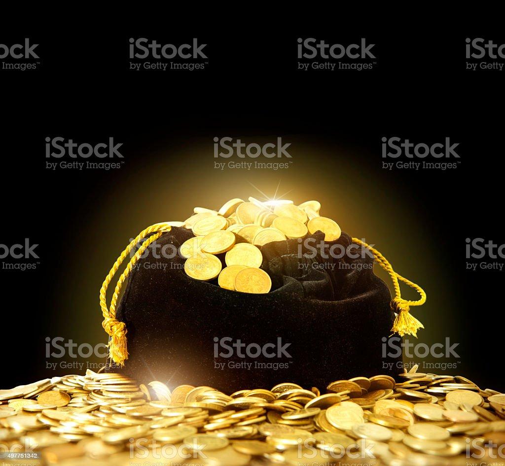 bag of money. stock photo