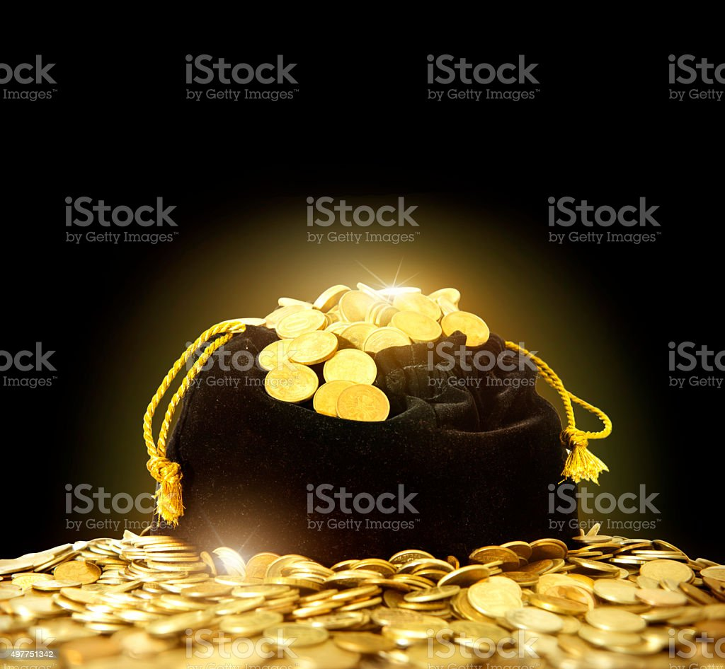 bag of money. stock photo