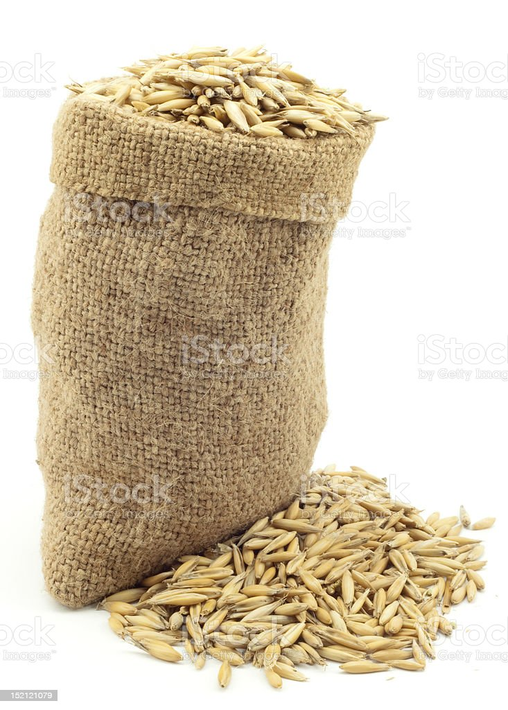 bag of oats royalty-free stock photo
