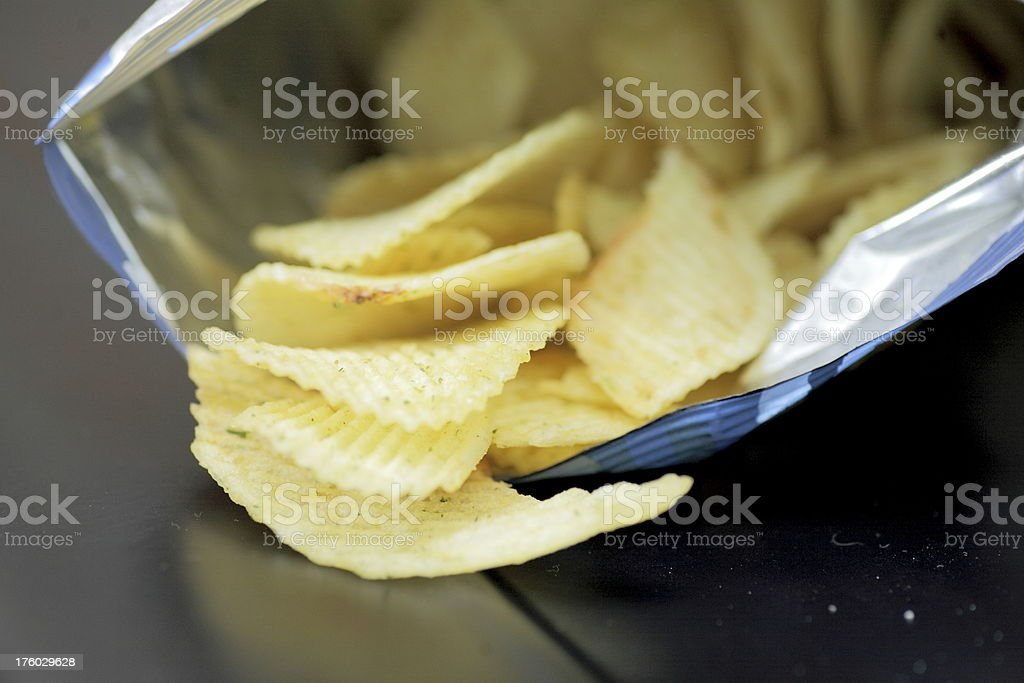 bag of potato chips. stock photo