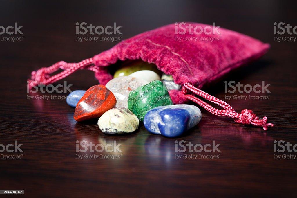 Bag Of Precious Stones stock photo