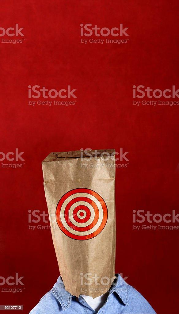 Bag Target Man royalty-free stock photo