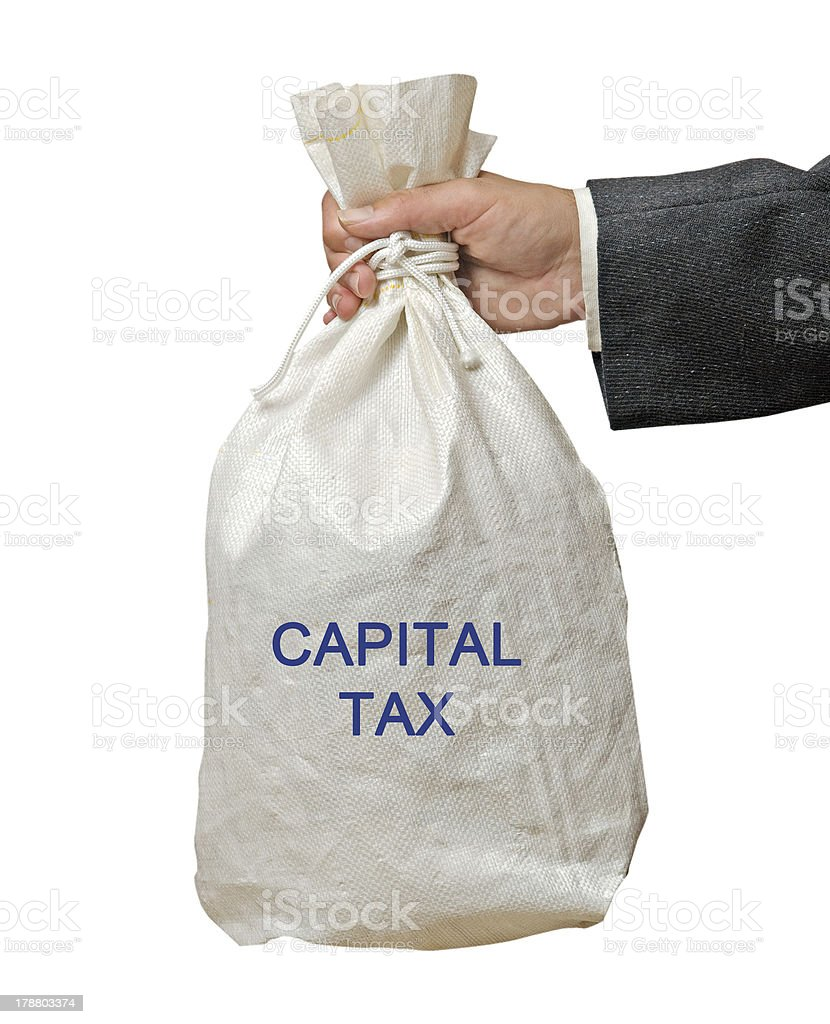 Bag with capital tax royalty-free stock photo