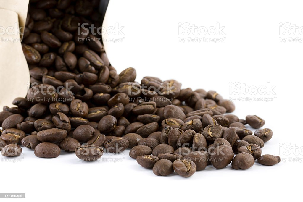 bag with coffee beans royalty-free stock photo