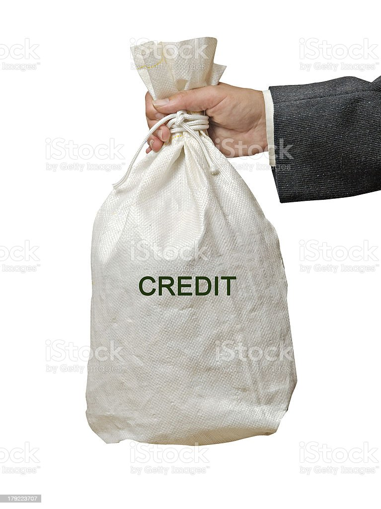 Bag with credit royalty-free stock photo