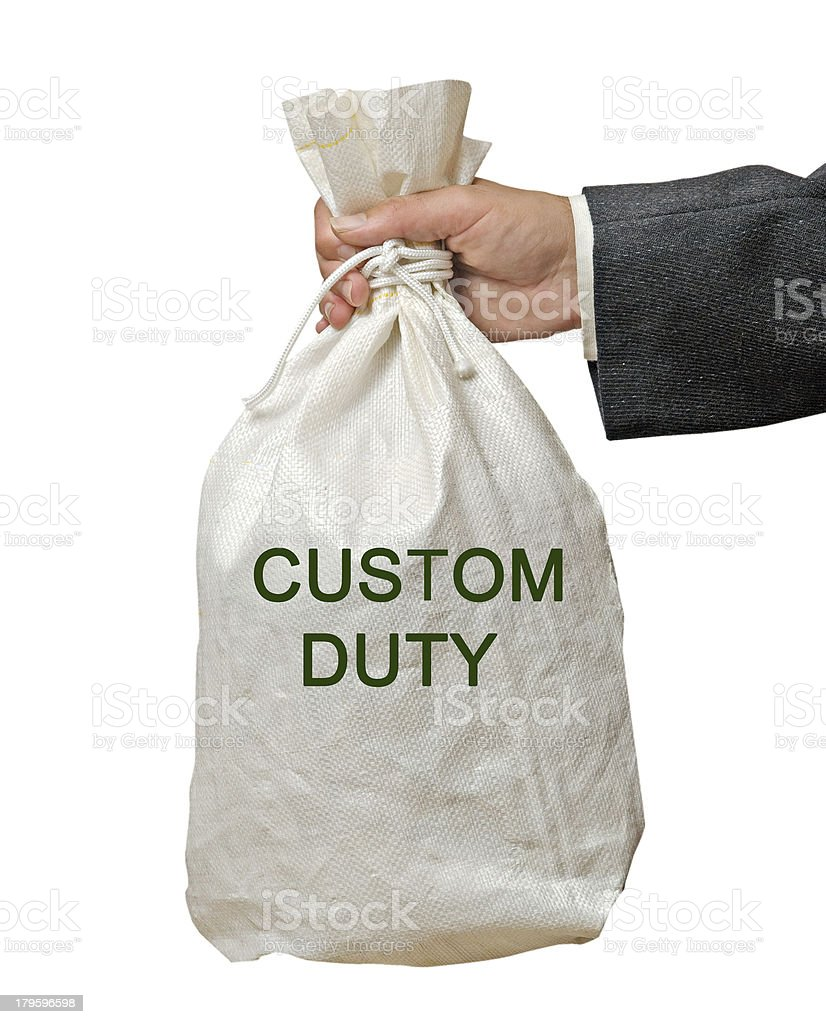 bag with custom duty royalty-free stock photo