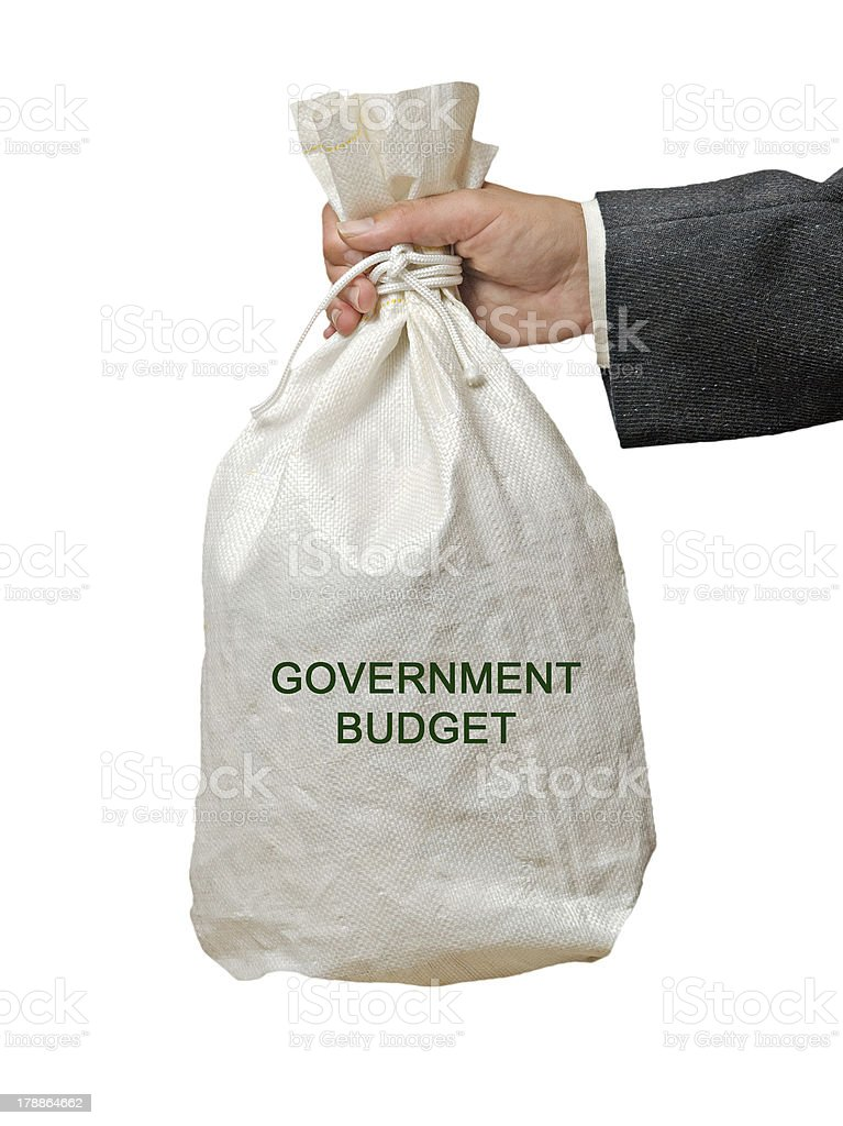 Bag with govermentl budget royalty-free stock photo