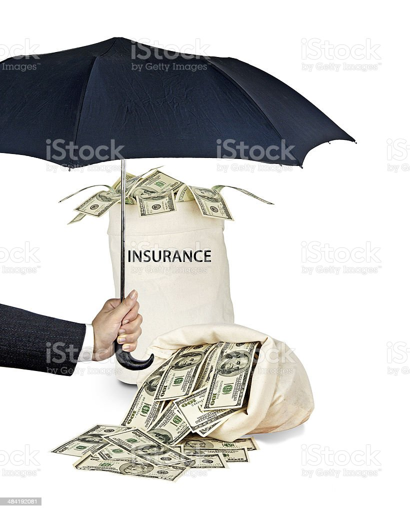 Bag with  insurance stock photo