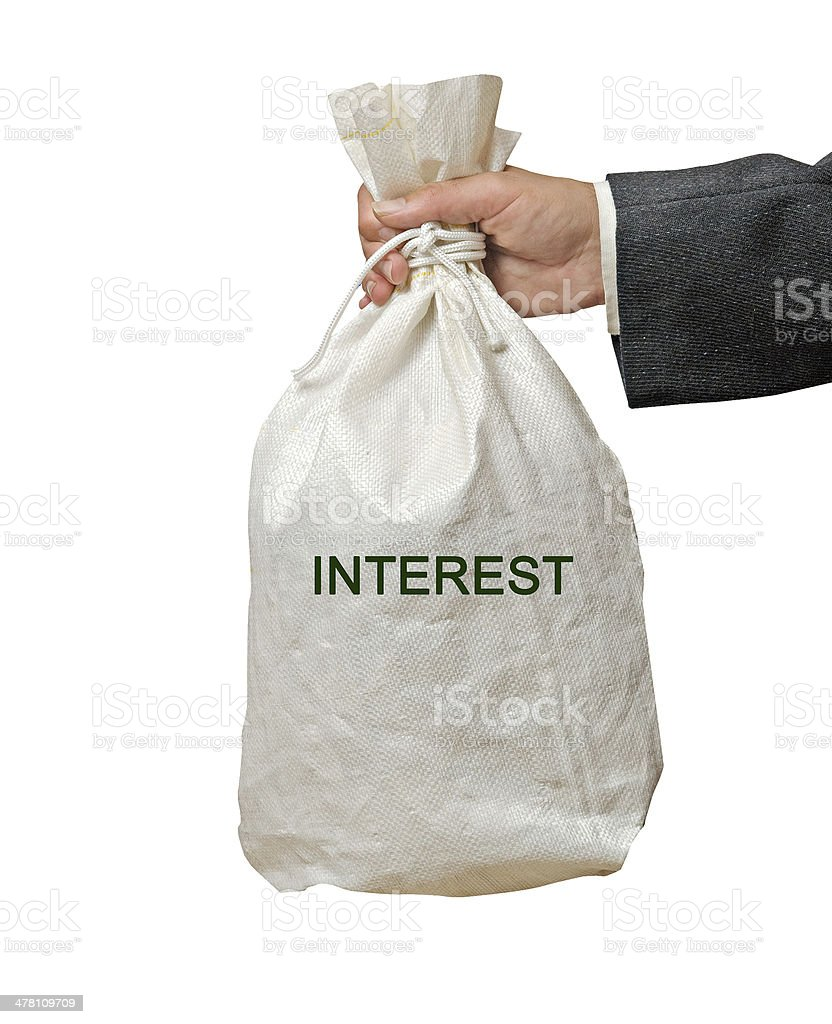 Bag with interest royalty-free stock photo