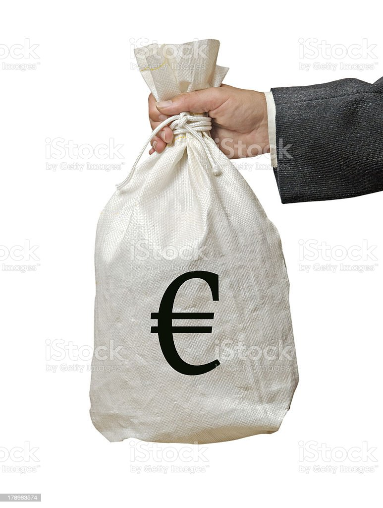 Bag with money royalty-free stock photo