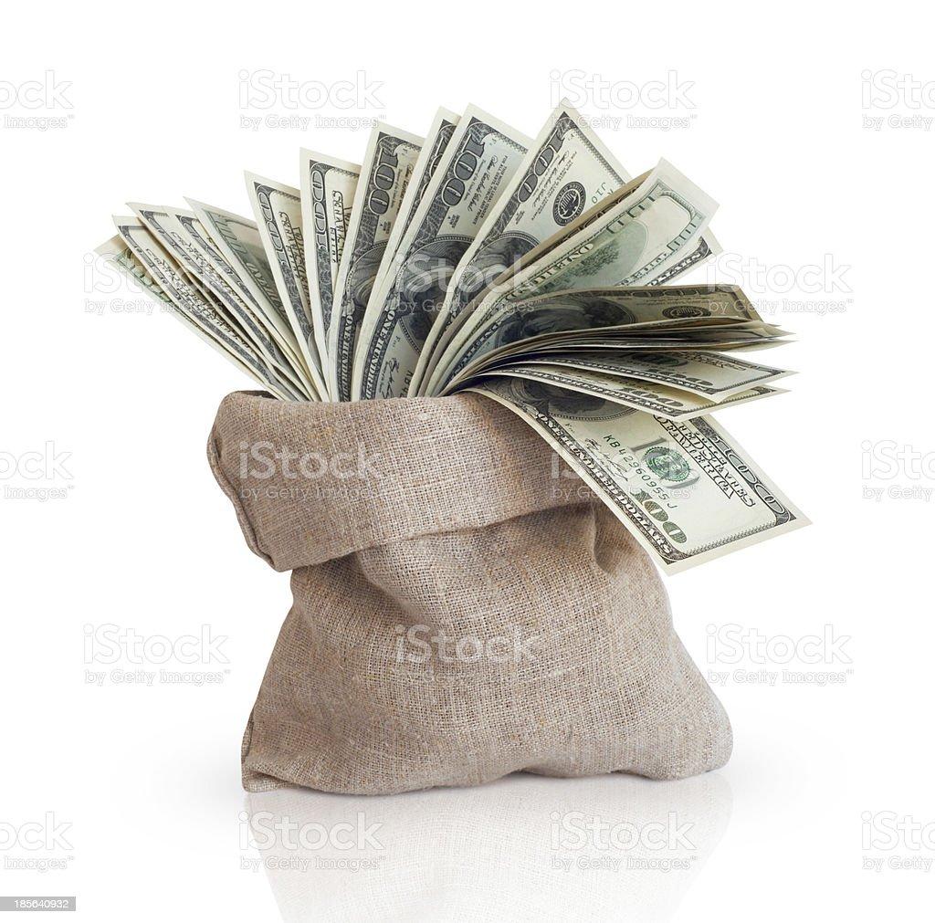 Bag with money stock photo