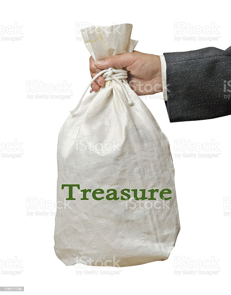 Bag with treasure royalty-free stock photo