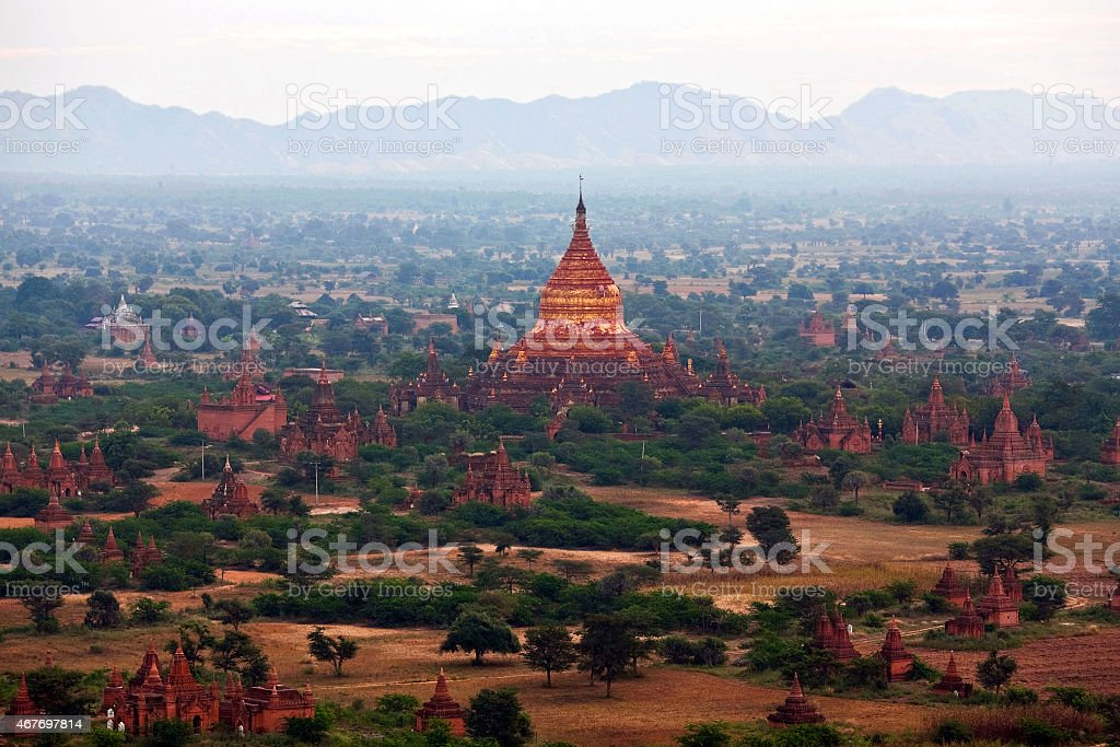 Bagan archaeological zone, Myanmar stock photo