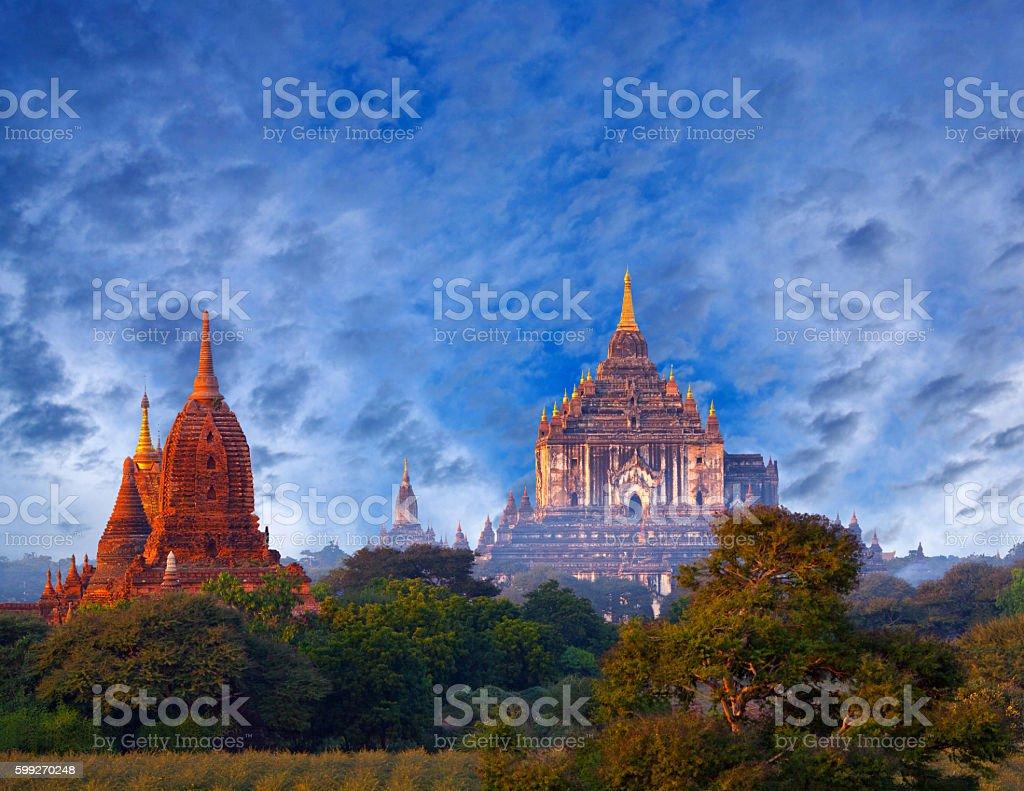 Bagan archaeological zone, Myanmar stock photo