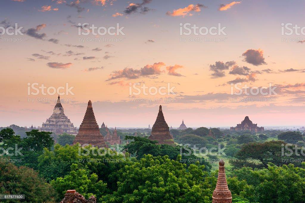 Bagan Myanmar Ancient Pagodas stock photo
