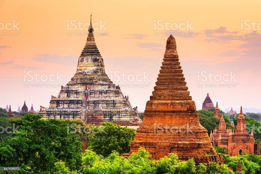 Bagan, Myanmar Temples stock photo