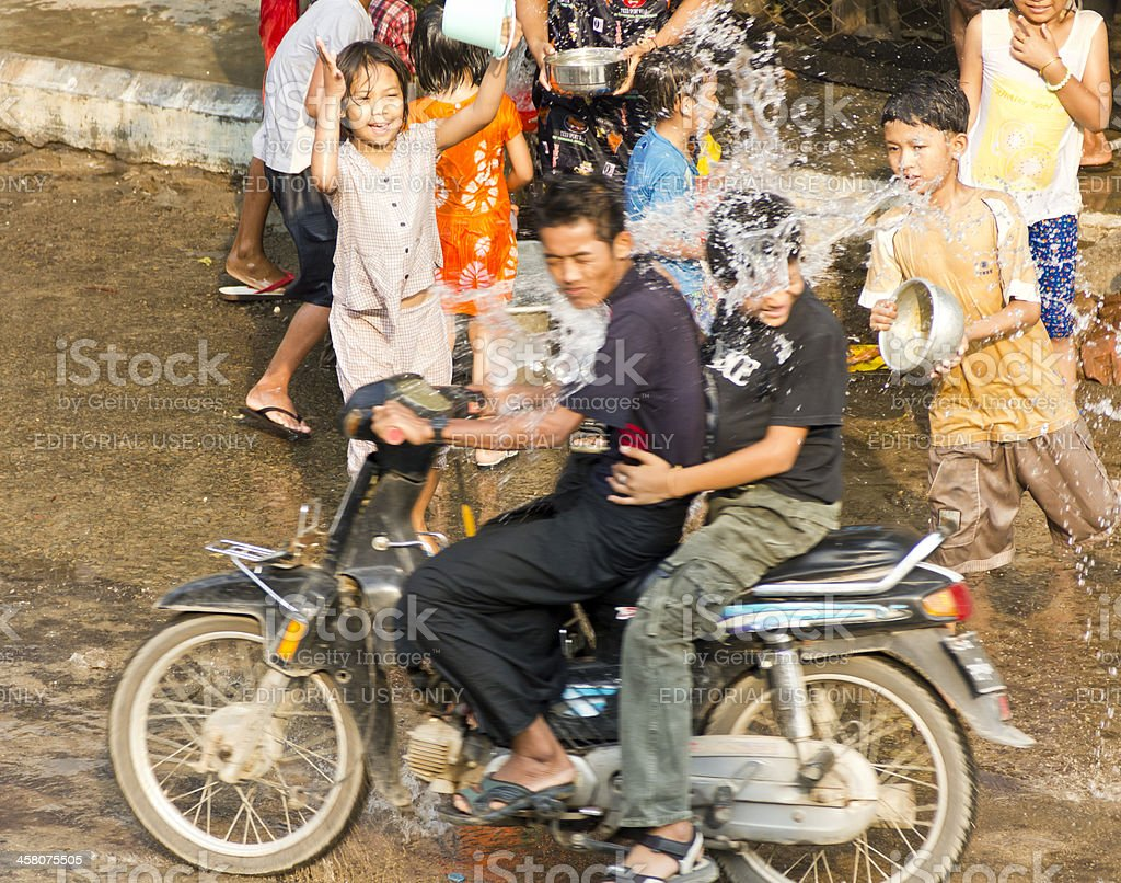 Bagan, Myanmar Water Festival stock photo