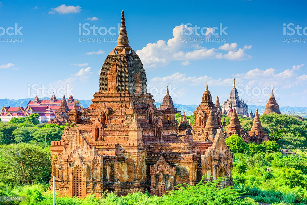 Bagan, Mynmar Archeological Zone stock photo