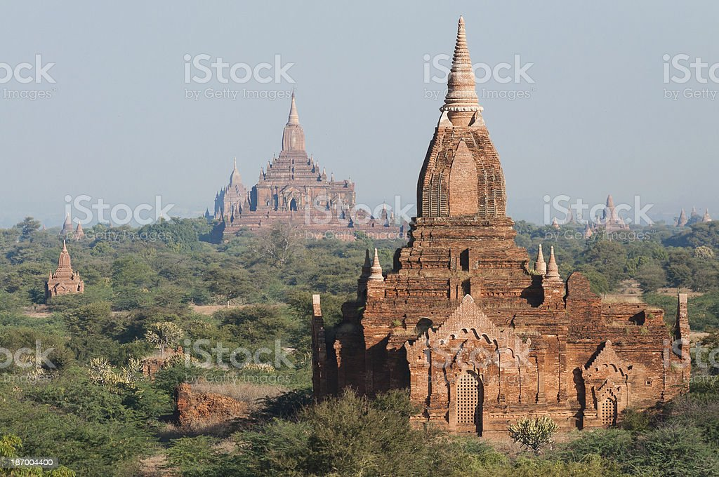 Bagan Pagodas royalty-free stock photo