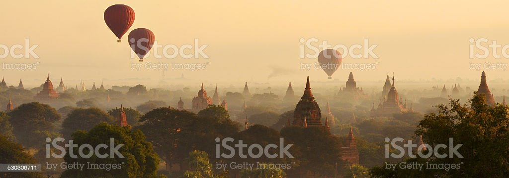 Bagan Panorama stock photo