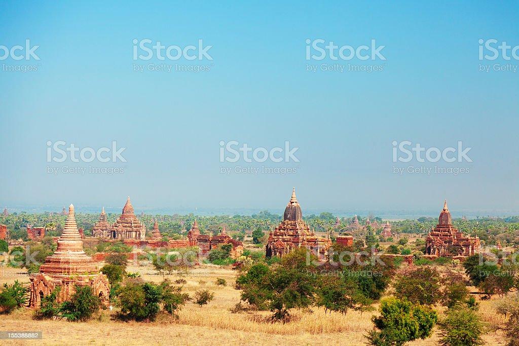 Bagan Skyline, Myanmar stock photo