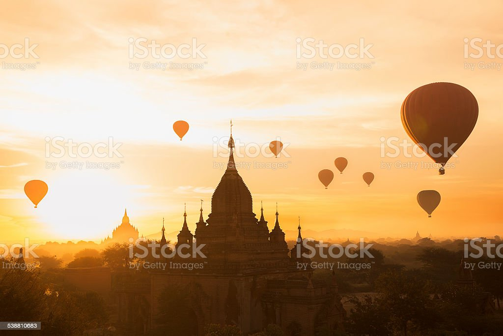 Bagan Skyline stock photo