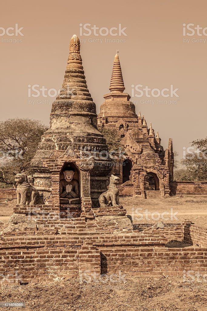 Bagan - small pagodas royalty-free stock photo