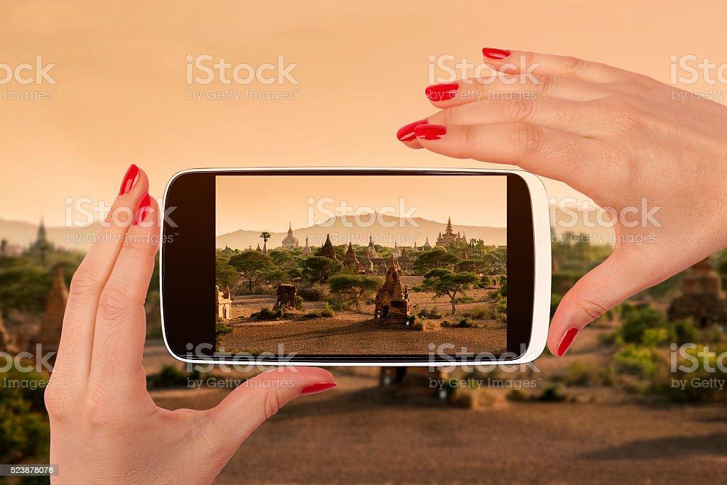 Bagan snapshot. stock photo