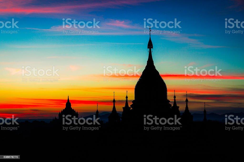 Bagan Sunrise stock photo
