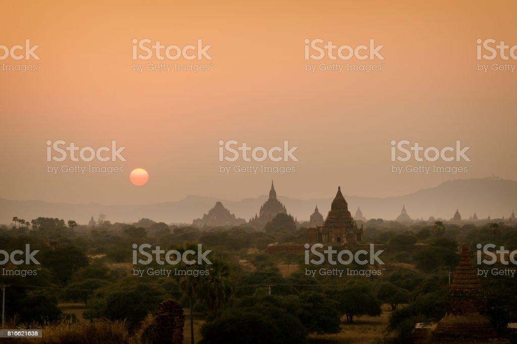 Bagan Sunset stock photo
