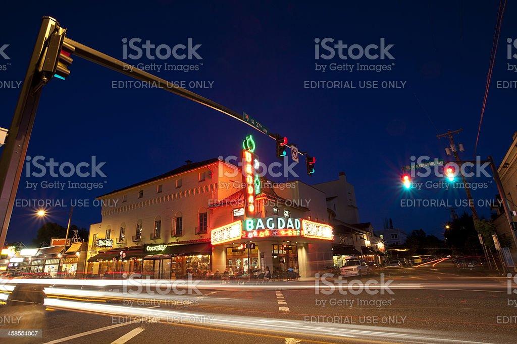 Bagdad Theater, Portland, Oregon stock photo