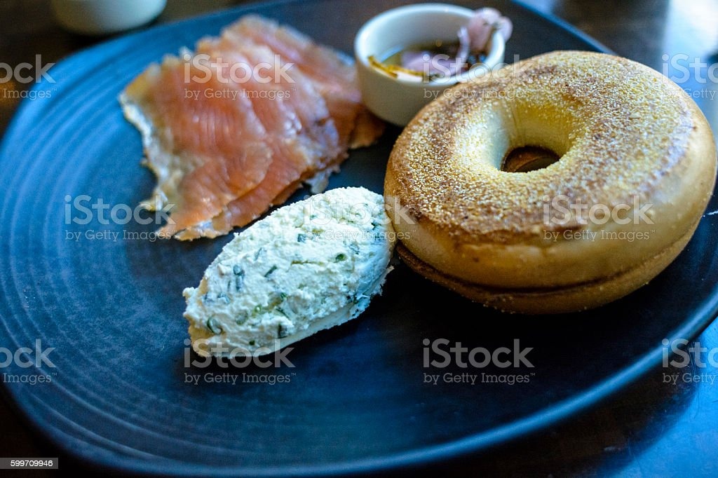 Bagel and Lox stock photo
