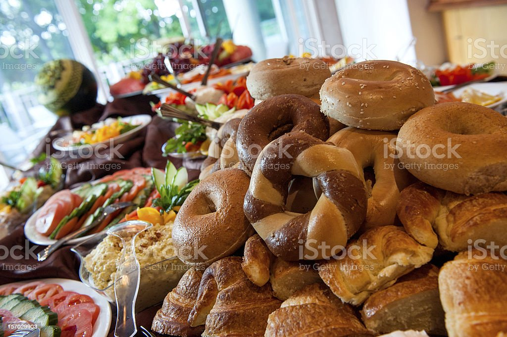 Bagel Buffet stock photo