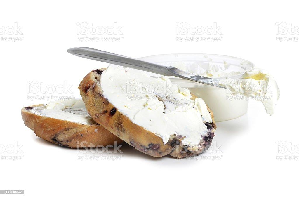 Bagel Cream Cheese stock photo