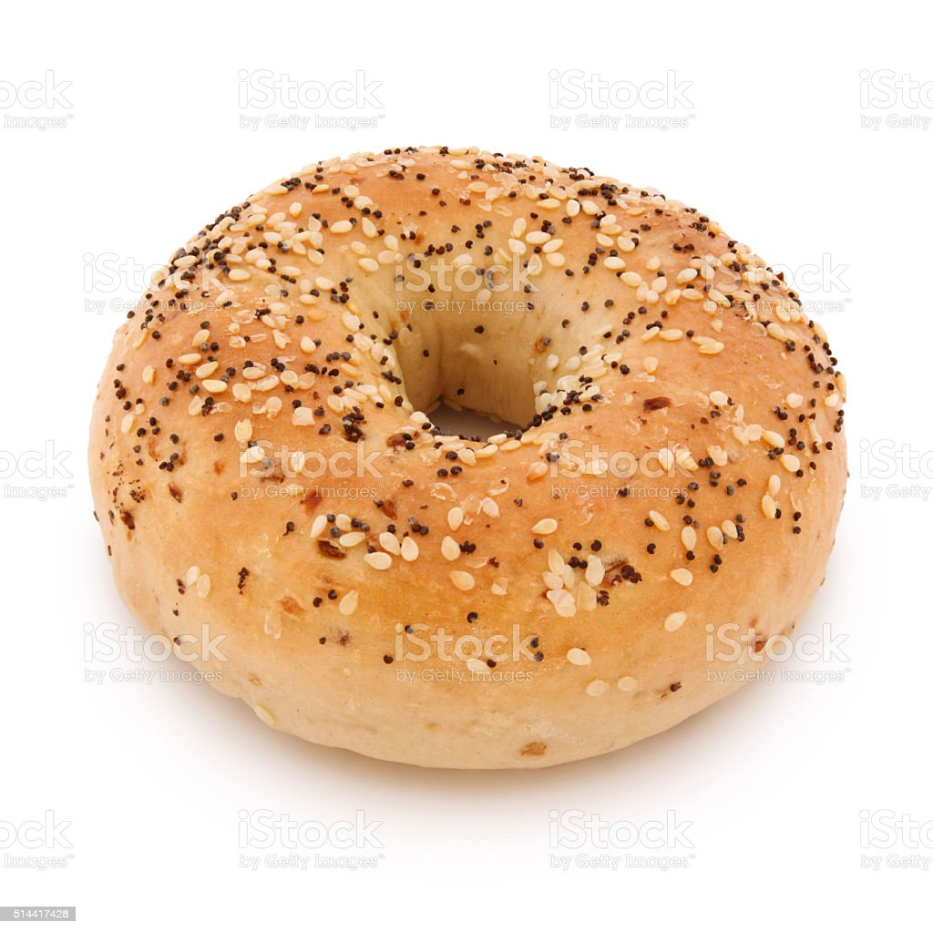 Bagel (with path) stock photo