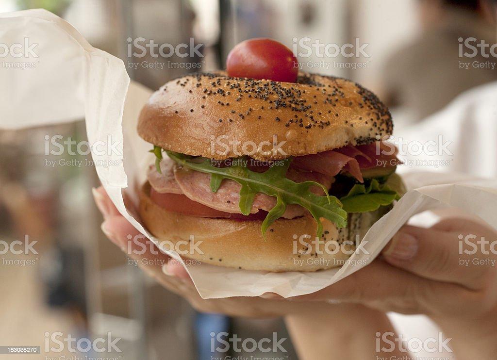 Bagel Sandwich royalty-free stock photo