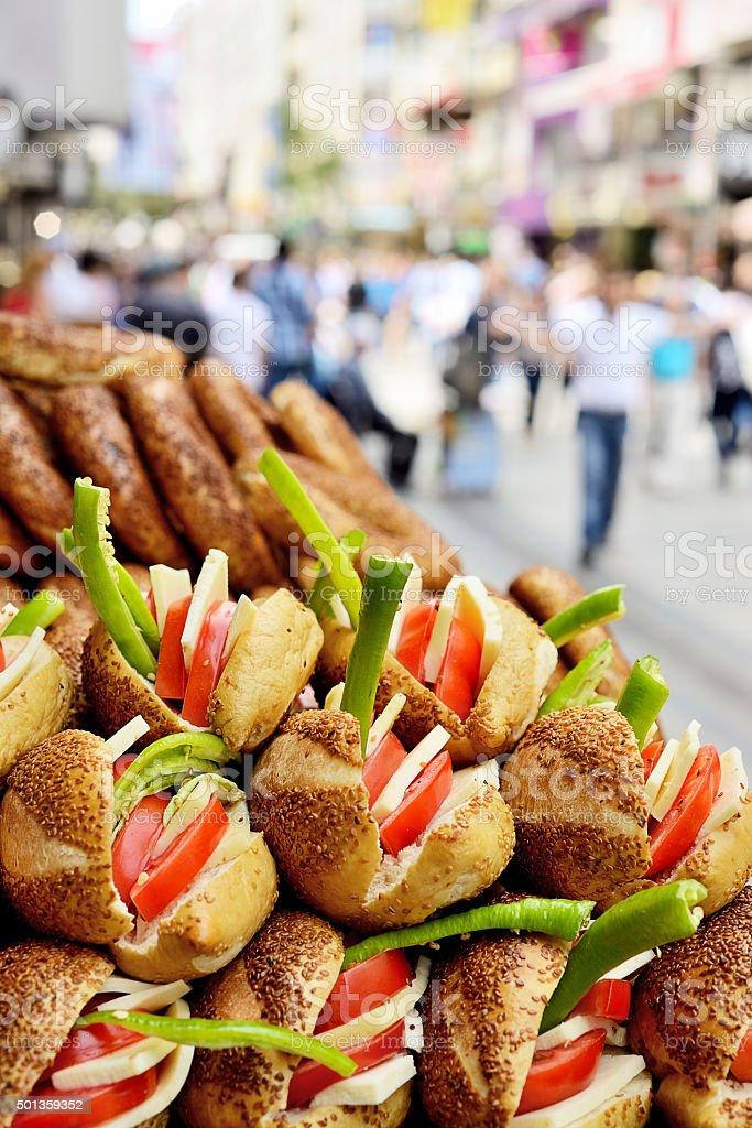 Bagel sandwich stock photo