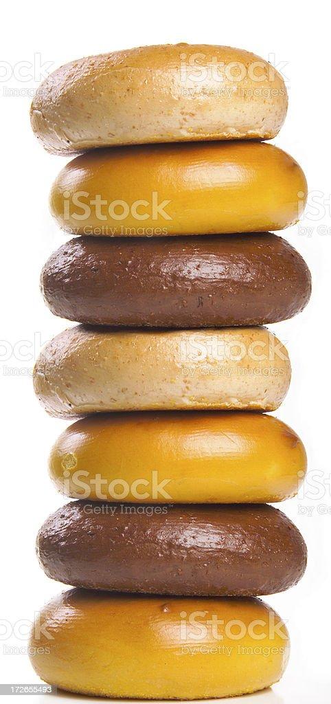 bagel stack royalty-free stock photo