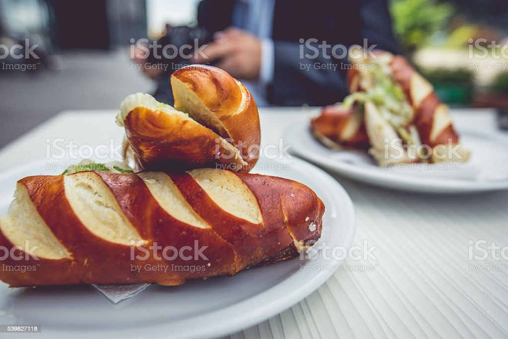 Bagel time stock photo