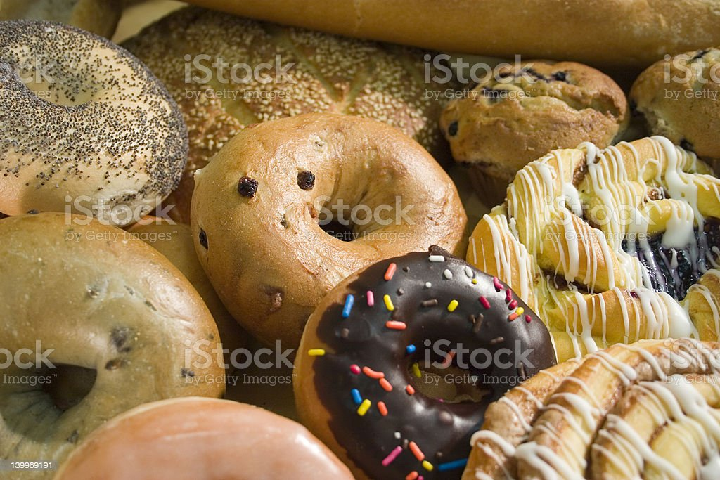 Bagels and Donuts stock photo