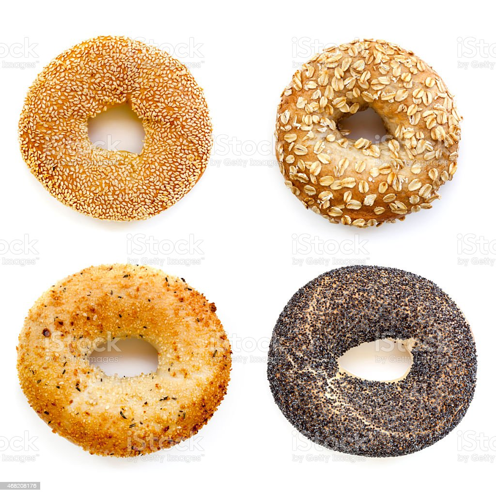Bagels Collection Isolated on White stock photo