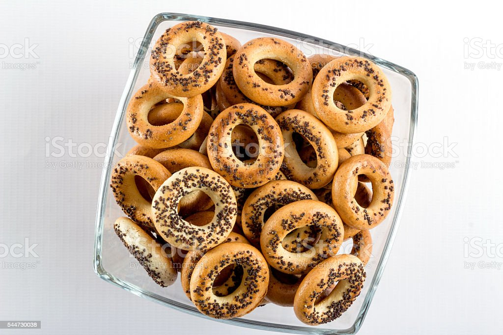Bagels in a cup stock photo
