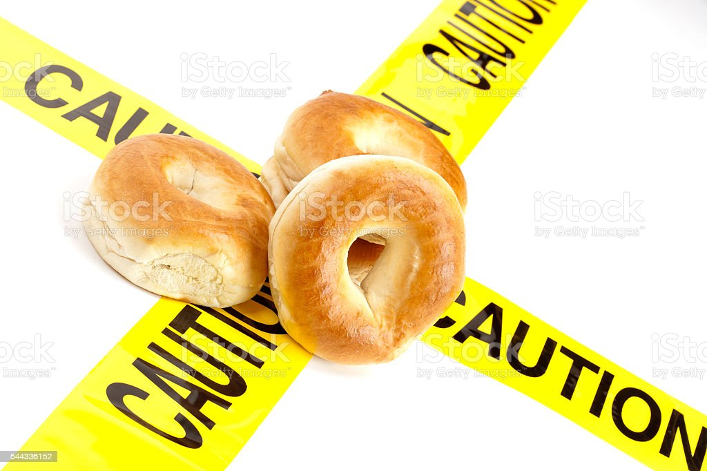 Bagels isolated on the white background stock photo
