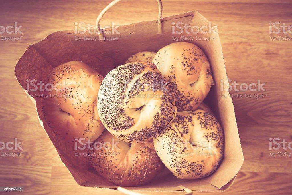 NY Bagels stock photo