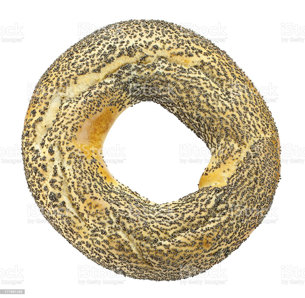 bagels with poppy seeds stock photo