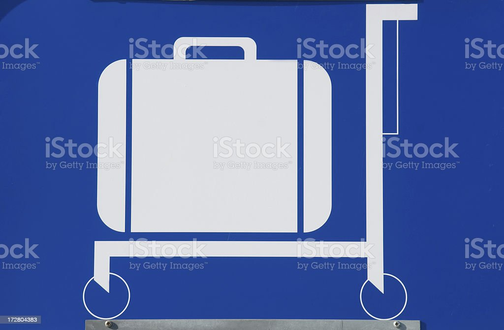 Baggage Cart Sign royalty-free stock photo