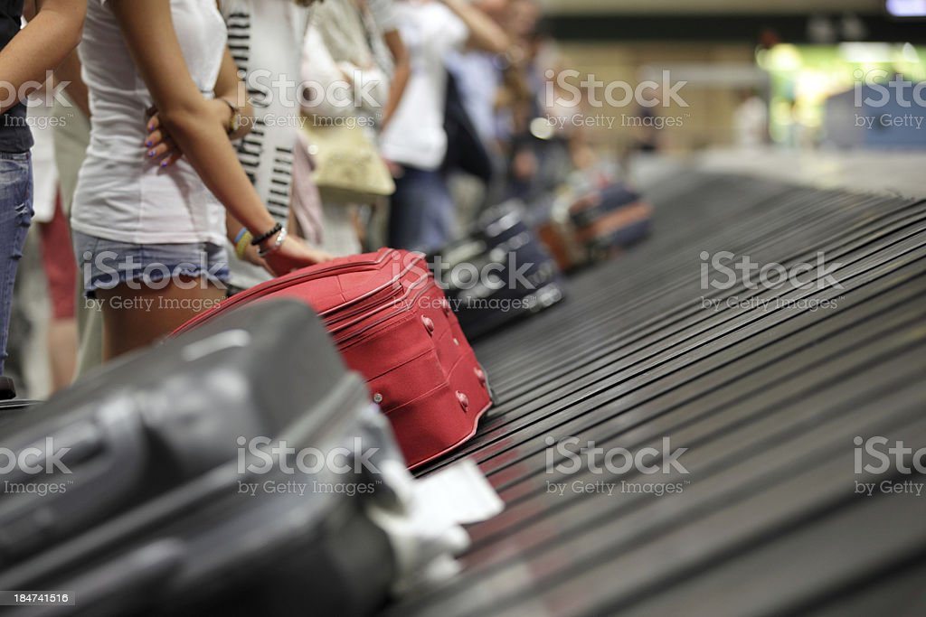 Baggage claim at airport stock photo